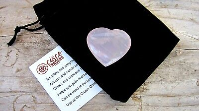 Rose Quartz 35mm Pyramid with gift pouch and card//Chakras//Love