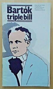 Bartok Triple Bill programme English National Opera (ENO) 1981 John Tomlinson