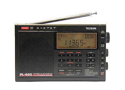 TECSUN PL680 PLL FM/Stereo MW LW SW SSB AIR Band     << BLACK COLOR >>