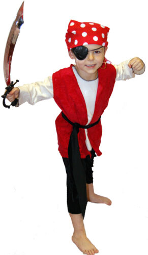 Peter Pan PIRATE//Buccaneer//Swashbuckler with Spotty Bandana FANCY DRESS All Ages