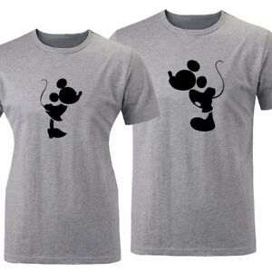 Minnie-Mickey-Matching-Couples-T-Shirt-Men-039-s-Women-039-s-Graphic-Tee-Valentine-039-s-Day