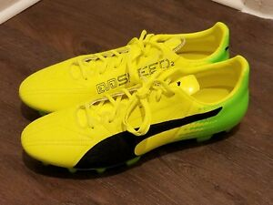 Details about PUMA EVOSPEED 17.2 LTH LEATHER SOCCER CLEATS FG 10401601 MENS  SZ 11.5 YELLOW
