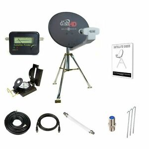 Dish Network For Rv >> Details About Dish Network Hdtv Portable Satellite Tripod Kit For Rv Tailgater Hd