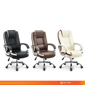 Office Chair Executive Computer Desk Chair Gaming Ergonomic High Back Swivel Ebay