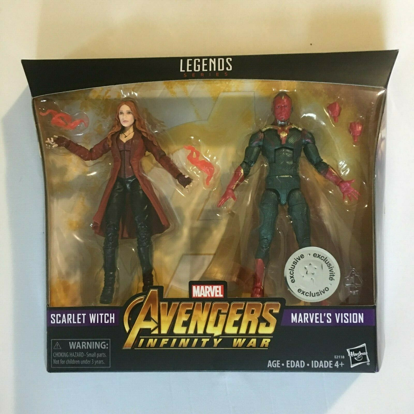 Marvel Legends Vision & Scarlet Witch Action Figure MCU
