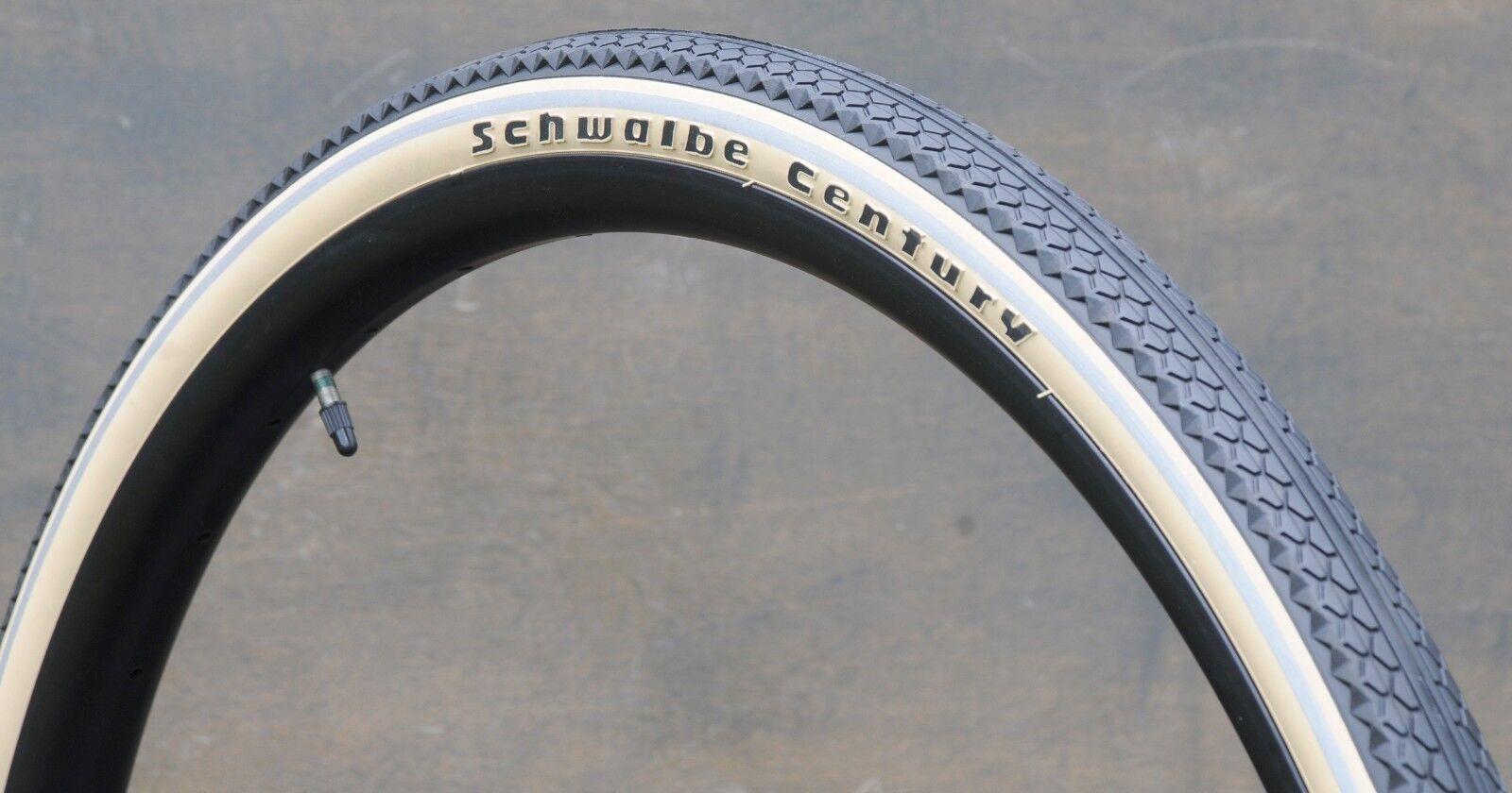 700x35 Antique Cream White SWCen 29er Schwalbe Bicycle Tires 28  Wood Wheel Bike
