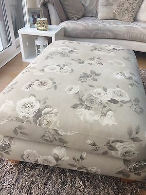 Next Vintage Rose Footstool✋️99p Sale Also Selling Matching Curtains
