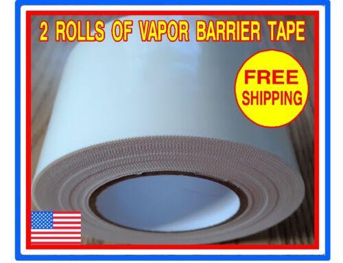 "2 Rolls 4/"" x 180/' Polyethylene Vapor Barrier Tape for Crawl Spaces Encapsulation"