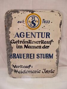 Old Tin Sign Brewery Storm Coburg Manchester Beverages Sale