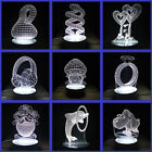 LED 3D Illuminated Illusion Light Desk Micro USB Table Night Lamp Creativ
