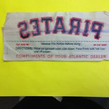Vintage PIttsburgh Pirates iron on transfer   Atlantic Dealers   10 transfers
