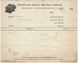 1923-Binghamton-New-York-Burroughs-Adding-Machine-Co-Billhead
