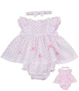 BabyPrem Baby Mädchen Kleid Marineblau Sommer Nautisch Matrose Kostüm Nb 6m