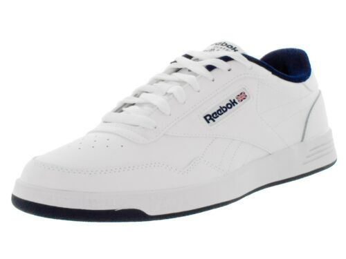 Reebok Classic Club Memt V6753 White Collegiate Navy Logo Memory Mens Shoes