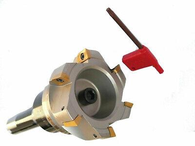 "New Bridgeport Milling Machine 2 1//2/"" Shell Mill R8 Arbor /& 10 APMT Inserts"