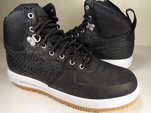 newest 77b24 4d513 ... italy image is loading nike lunar force 1 sneakerboot black white gum  cb44e 9434b