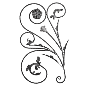 Zierblumen Blüten Rosette Zierrosette Zaunelement Ornament Blumen 003