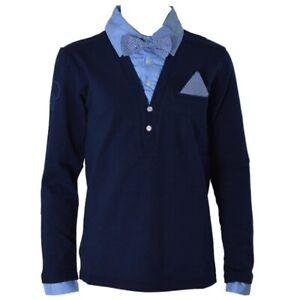 Polo-in-Caldo-Cotone-con-Colletto-Camicia-Bambino-Sarabanda-N307