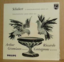 LP Grumiaux Castagnone Schubert 3 Violinsonatien & Sonate  Philips Minigroove