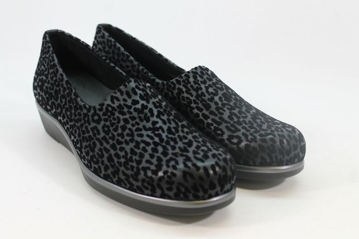 SAS Bliss Women's Black Leopard Loafers 10.5N(ZAP9219)