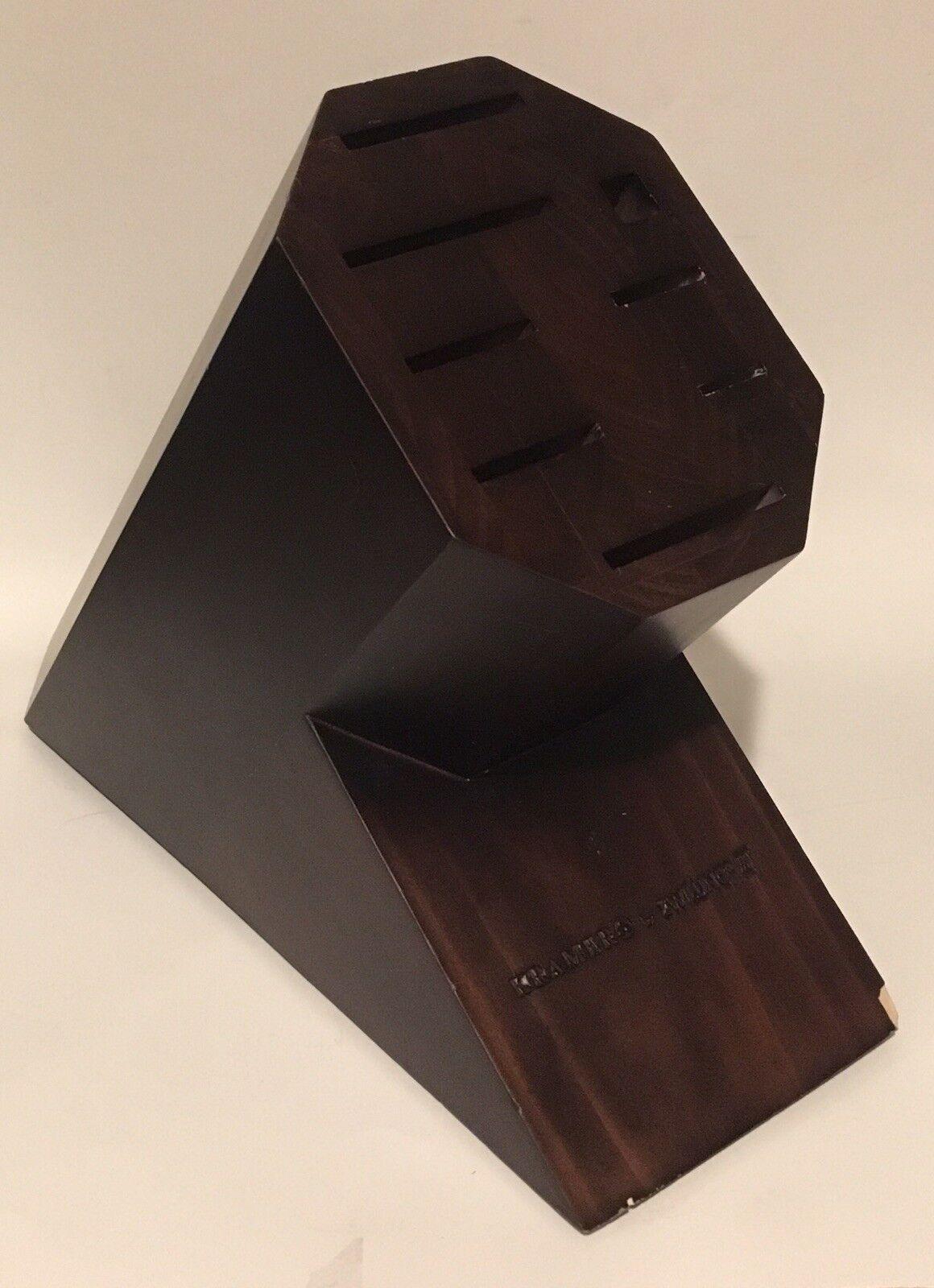 Kramer de Zwilling 8 Slot Octagon couteau Bloc Solide Noyer Bcourir Foncé