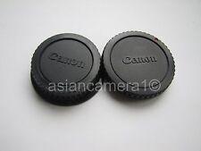 Body & Rear Lens Cap Set For Canon EOS Film Digital Rebel XTi Xsi Dust Safety