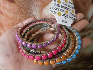 CLOSEOUT-SALE-From-USA-9-99-Joe-Boxer-5-Pcs-Stackable-Multicolor-Bracelet-2