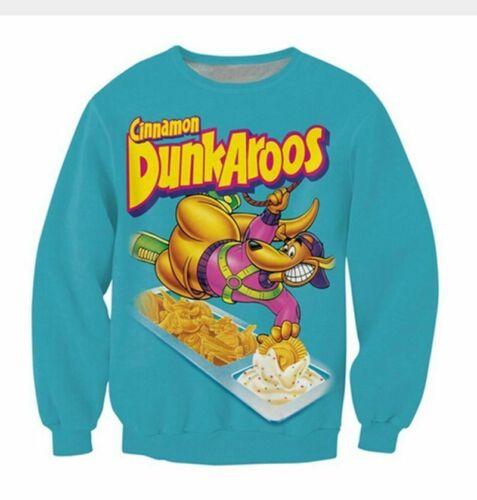 New Fashion Mens//Women Dunkaroos 3D Print casual Sweatshirt hoodies pullover Top