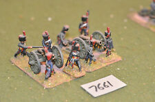25mm napoleonic french horse artillery 2 guns & crew (7661) metal painted