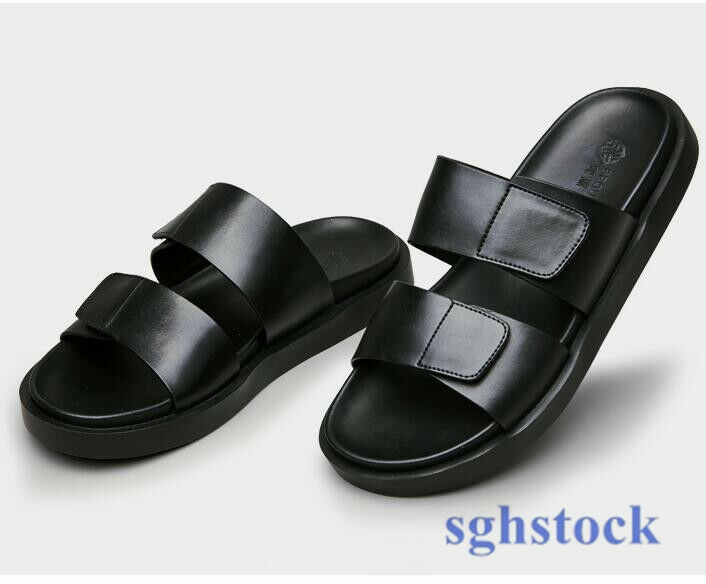 Real Leather Sandals Slippers shoes Mens Summer Casual Soft Beach Open Toe  Hot