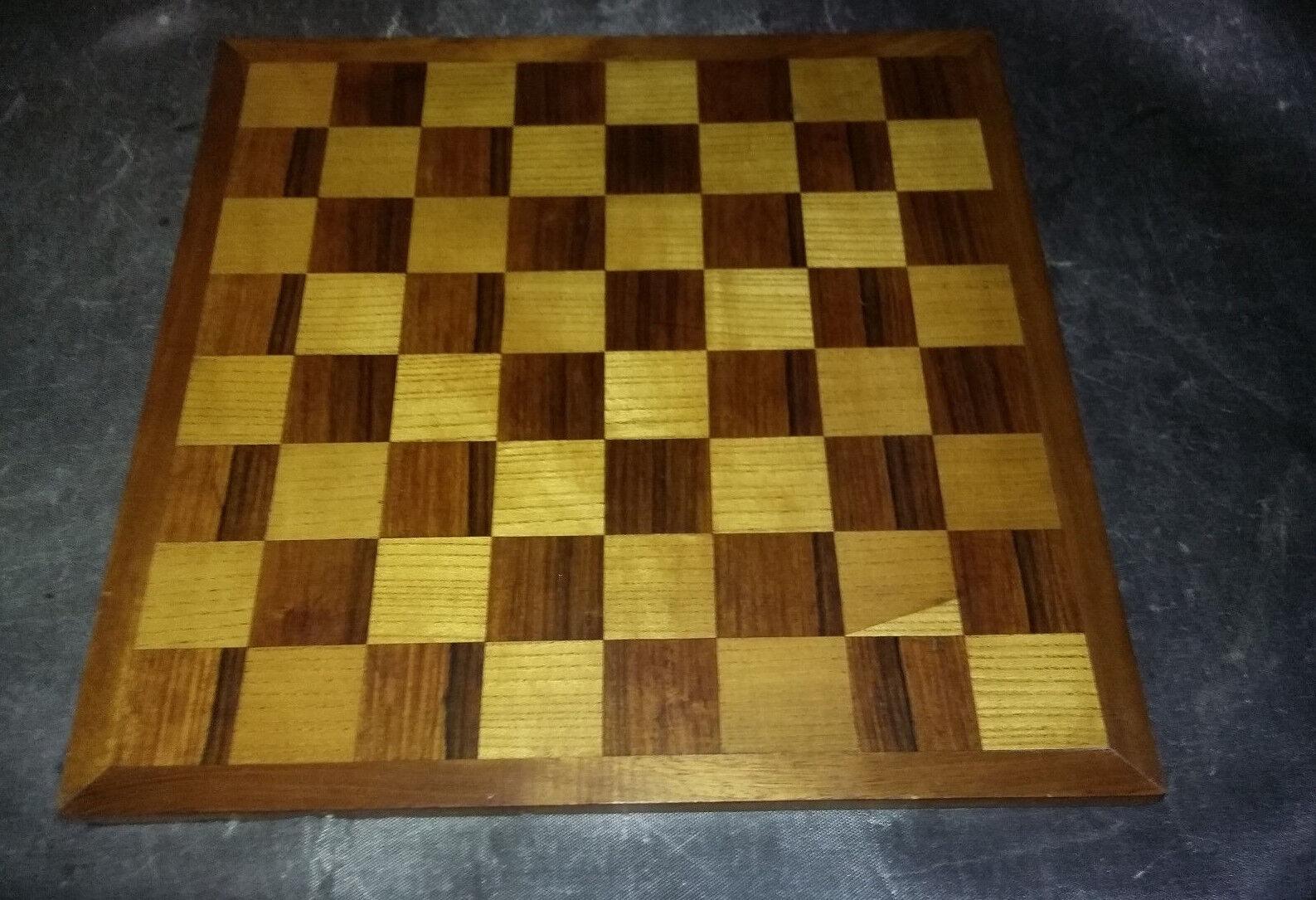 Plateau Plateau Plateau jeu d'échecs artisanal - 43.5 x 43 cm - 5 x 5 cm b43265