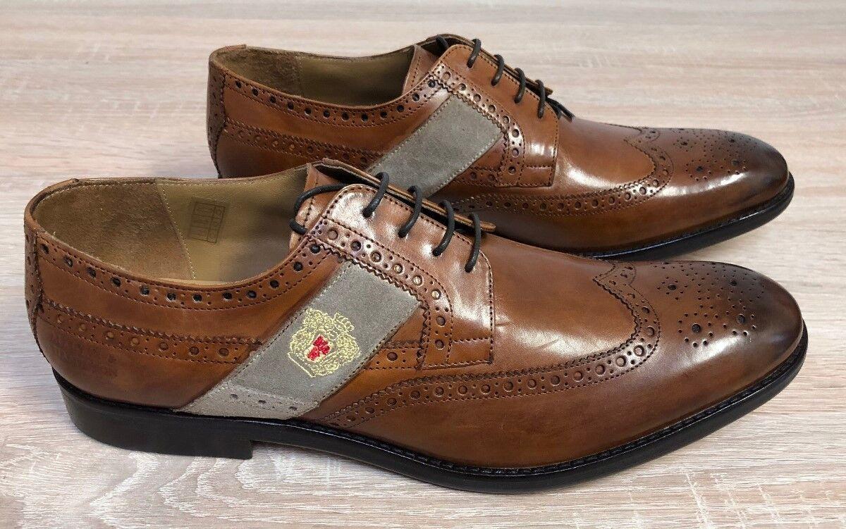 MELVIN & HAMILTON Business Schuhe EDDY R25  in Leder Gr. 45