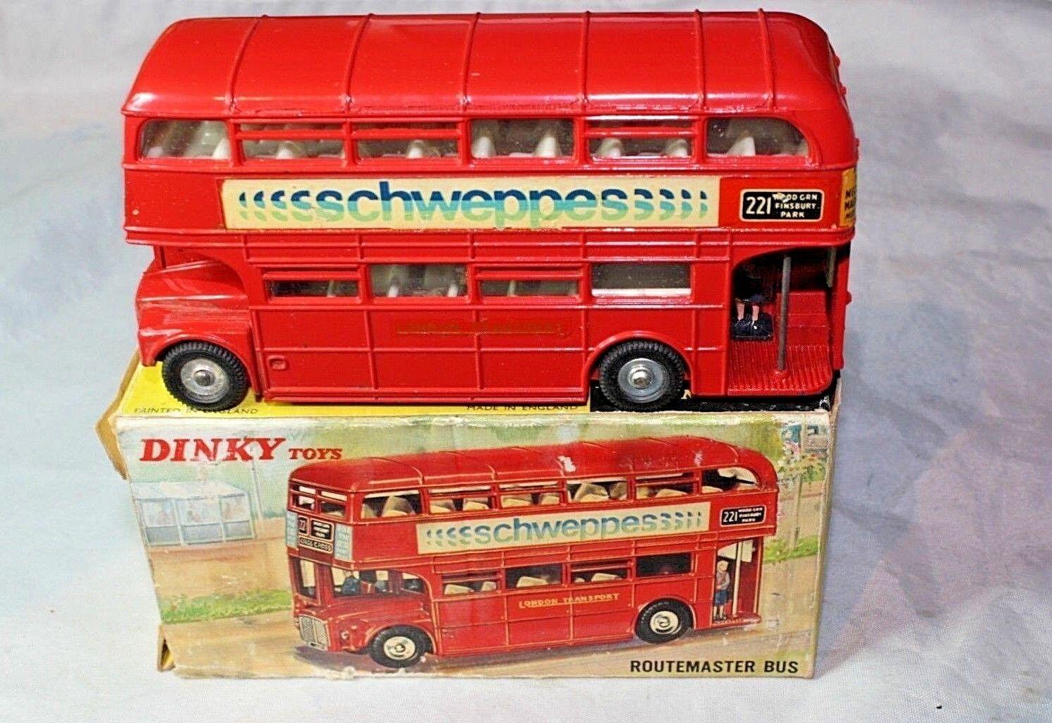 Dinky 289 Routemaster bus, Schweppes livrée, excellent état dans  boîte d'origine  profiter de vos achats