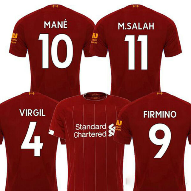 purchase cheap d9668 fef6e Liverpool FC 2019/2020 Men's Home Jersey Football Soccer Adult Short Sleeve  Top