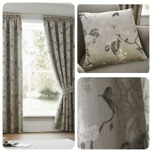 Curtina-ANDRIA-Floral-Jacquard-Pencil-Pleat-Curtains-amp-Cushions-Collection