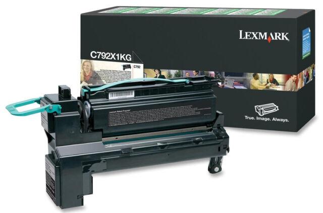Original Lexmark Cartouche D'Encre C792X1KG Noir pour C792 Neuf B