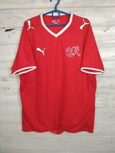 Switzerland Swiss Jersey 2008/10 Home MEDIUM Shirt Mens Red Trikot Soccer Puma