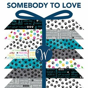 Windham-Fat-Quarter-Bundle-Somebody-to-Love-9-pieces-100-Cotton-Quilting-Pet