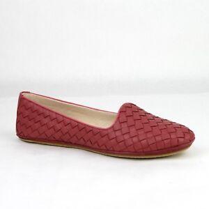 fcd3a9e9b $660 Bottega Veneta Women's Dark Pink Leather Flat Shoes IT 39/US 9 ...