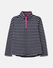 Joules 208623 Sweatshirt with Zip Neck - NAVY PINK STRIPE