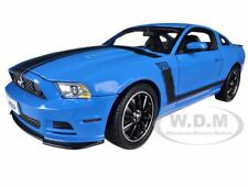 2013 FORD MUSTANG BOSS 302 BLUE 1/18 DIECAST MODEL CAR SHELBY COLLECTIBLES SC450