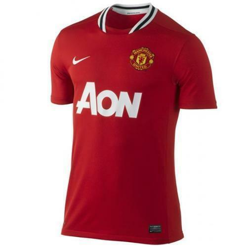 """Size 48-50/"""" Authentic Nike Men's Manchester United Home Shirt 2011-2012 XXL"""