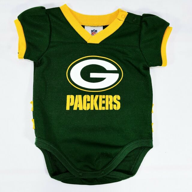 Green Bay Packers One Piece 3-6 Month Girls Ruffle Bottom