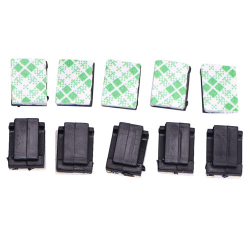 50Pcs Wire Clip Black Car Tie Rectangle Cable Holder Mount Clamp self adhesi TB