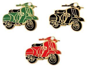 Vespa Scooter Mod Pin Badges Set Of 3