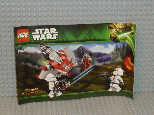 LEGO® Star Wars Bauanleitung 75001 Republic Troopers Sith ungelocht B2414
