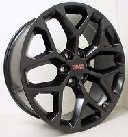 20 Inch Gmc Black Snowflake Wheels Rims Gmc Sierra Yukon Denali Avalanche