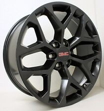 New 20 inch GMC Black Snowflake Wheels Rims GMC Sierra Yukon Denali  Avalanche