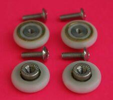 4 X Puerta de ducha Rodillos / runners/wheels De 19mm Diámetro de la rueda l017
