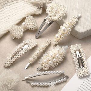 Pince-a-cheveux-perle-Snap-Barrette-Stick-cheveux-cadeau-de-la-mode-feminine